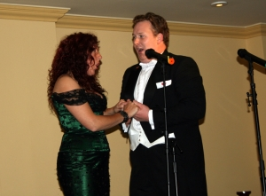 Aled and Sian  performing Brindisi in Oswestry