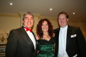 Aled, Shân Cothi and compere Glyn Owens