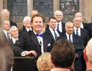 Aled in concert with the Froncysyllte male-voice choir