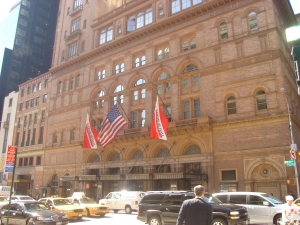 The famous Carnegie hall in New York