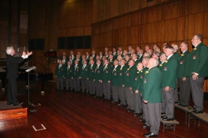 The Welsh choir of South Africa singing at the St. David's Day concert in Johannesburg